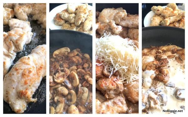 how to make creamy asiago mushroom chicken | recipe on NoBiggie.net