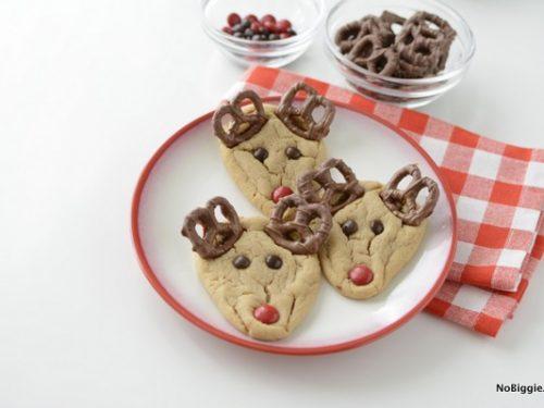 peanut butter rudolph cookies nobiggie - Christmas Peanut Butter Cookies