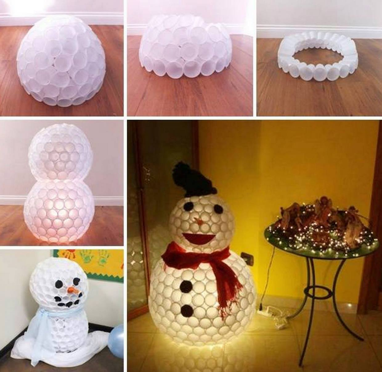 25 snowman crafts and fun food ideas for Plastic snowman