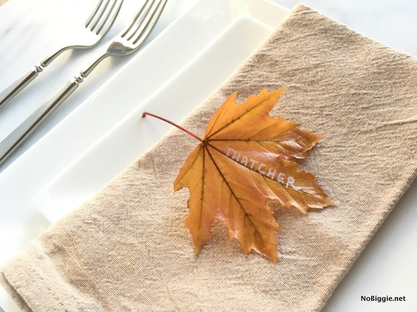 real leaf place setting | NoBiggie.net