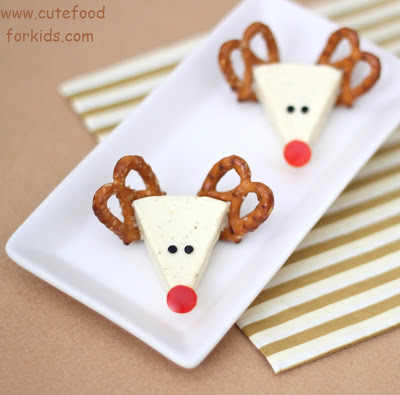 Reindeer Cheese | 25+ Rudolph crafts, gifts and treats | NoBiggie.net