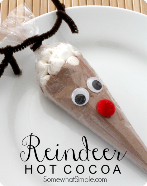 reindeer hot cocoa cone | 25+ Rudolph crafts, gifts and treats | NoBiggie.net