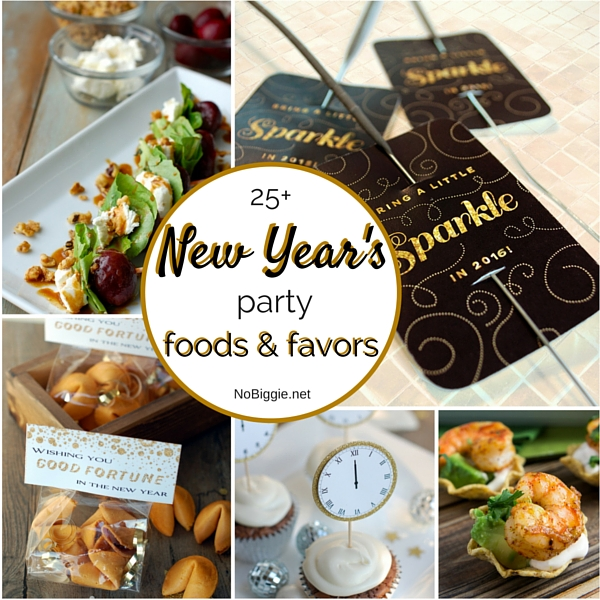 25+ New Year's Eve party food and favors | NoBiggie.net
