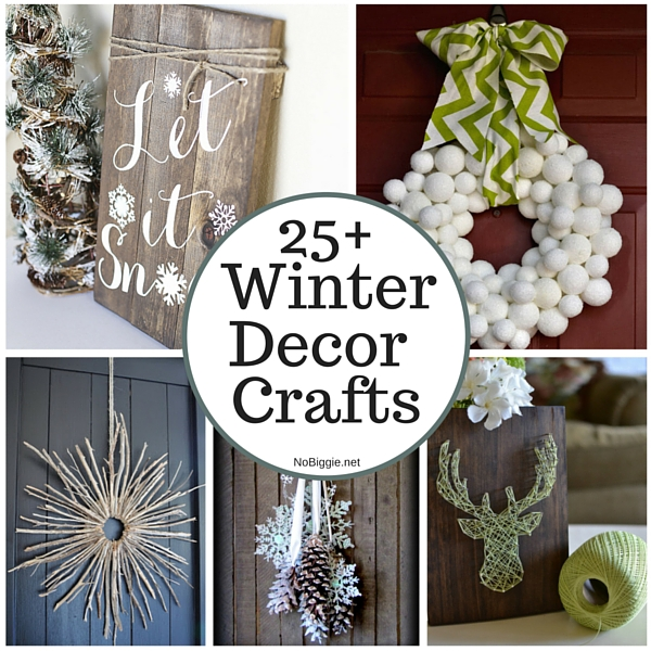 25 winter decor crafts nobiggie First home decor pinterest