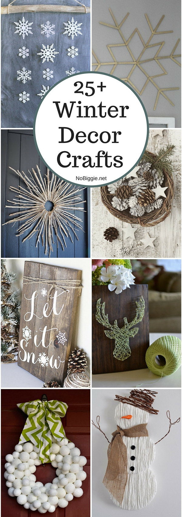 25+ Winter decor crafts | NoBiggie.net