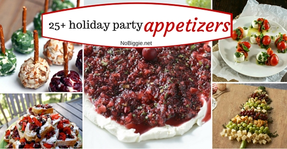 25+ Holiday Party Appetizers | NoBiggie.net