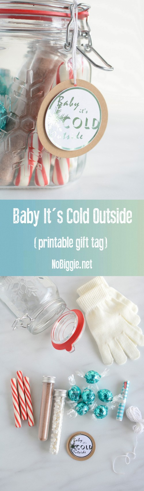 Baby it's cold outside free printable gift tags | NoBiggie.net
