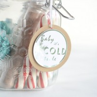 Baby it's cold outside printable gift tags