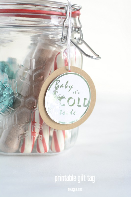 Baby it's cold outside | printable gift tags | NoBiggie.net