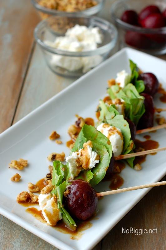 Beet Salad on a stick | 25+ NYE party ideas