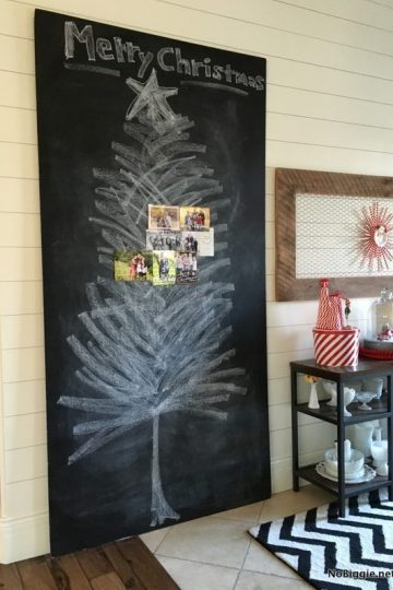 Chalkboard Christmas Card Display