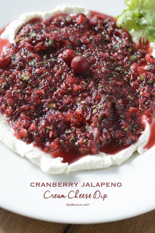 Cranberry Jalapeno Salsa Cream Cheese Dip | 25+ NYE party ideas