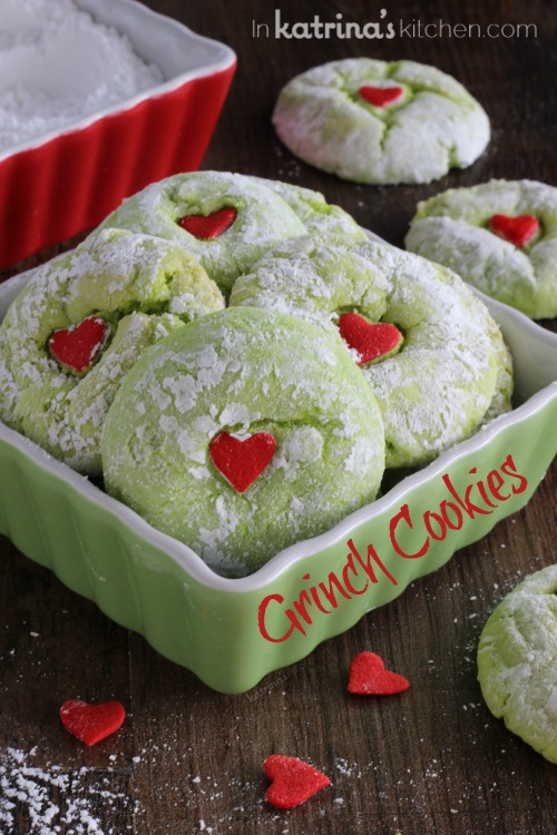 Grinch Cookies | 25+ Grinch crafts and cute treats
