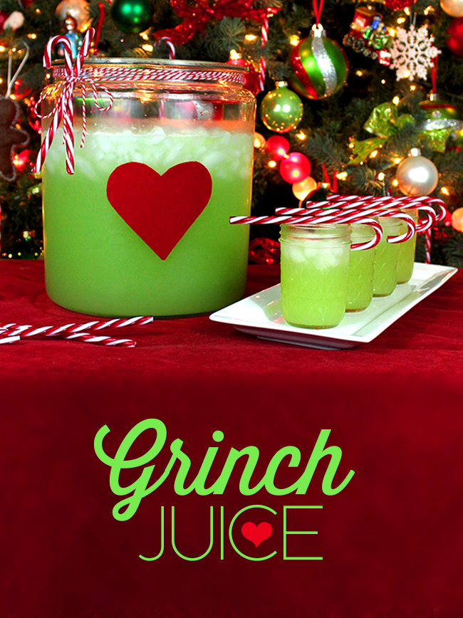 Grinch Punch | 25+ Grinch crafts and cute treats
