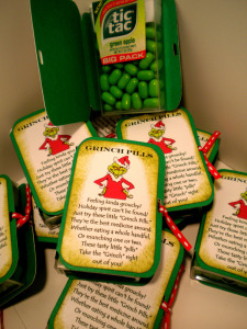 Grinch pills | 25+ Grinch crafts and cute treats