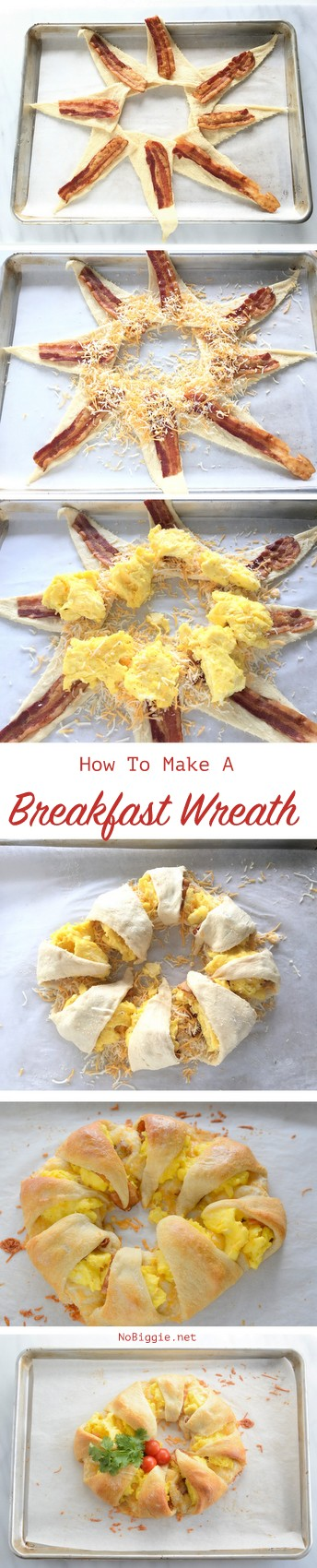 How to make a breakfast wreath | so easy and so pretty. My family loves when I make this. recipe on NoBiggie.net