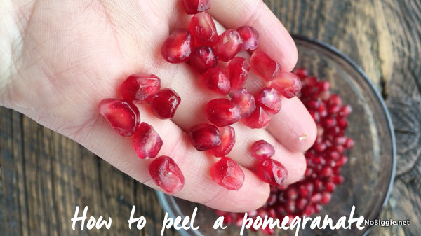 How to peel a pomegranate | NoBiggie.net