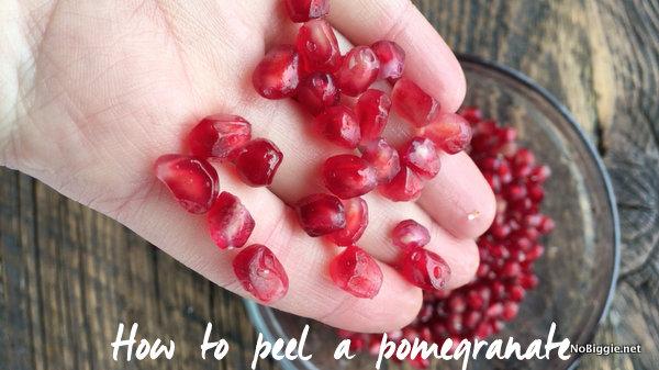 How to peel a pomegranate | NoBiggie.net