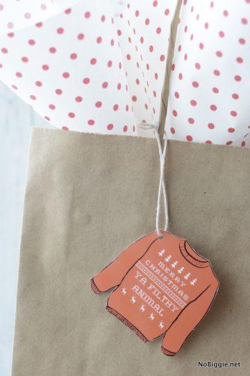 Merry Christmas Ya Filthy Animal (printable gift tags) | NoBiggie.net