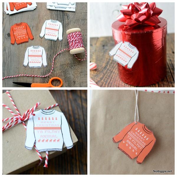 Merry Christmas Ya Filthy Animal (free print gift tags) | NoBiggie.net