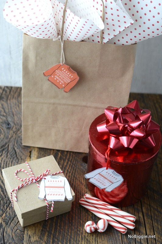 Merry Christmas Ya Filthy Animal (free printable tags) | NoBiggie.net