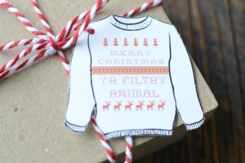 Merry Christmas Ya Filthy Animal gift tags