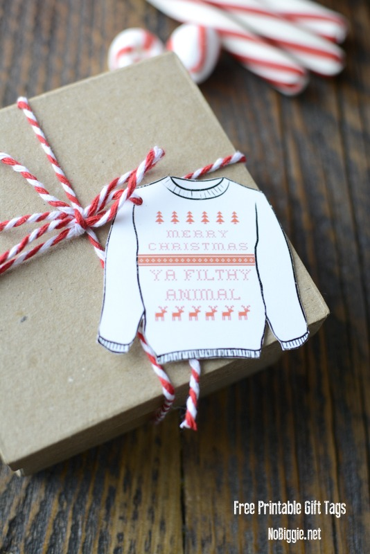Merry Christmas Ya Filthy Animal (printable gift tags) | NoBiggie.net