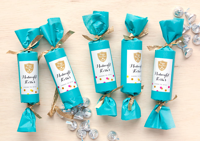 Midnight kisses New Year's Eve Party Favors | 25+ NYE party ideas