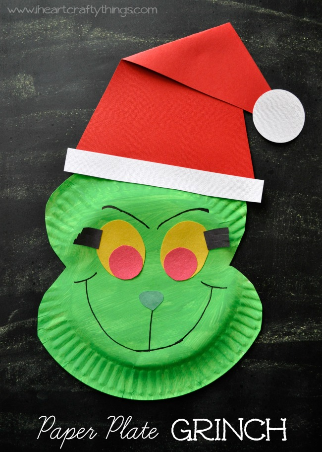 Paper Plate Grinch Craft | 25+ Grinch crafts and cute treats