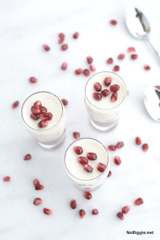 Pomegranate Panna Cotta recipe | NoBiggie.net