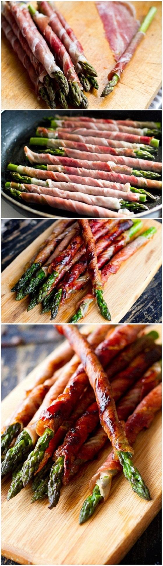 Prosciutto wrapped asparagus | 25+ NYE party ideas