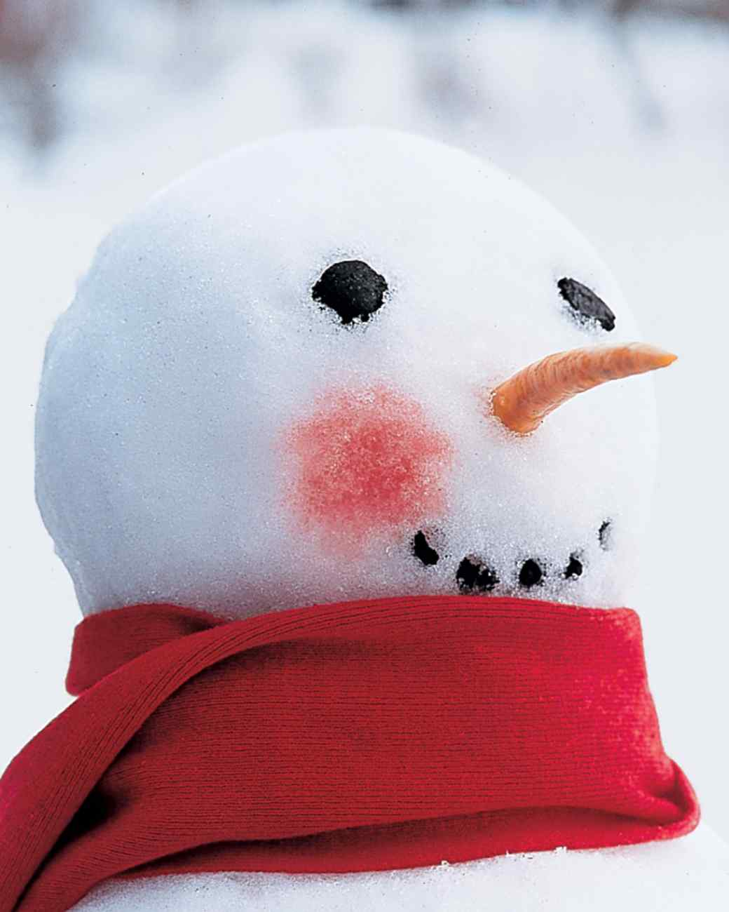 Rosy cheeked snowman
