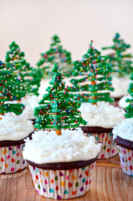 Christmas tree cupcake | 25+ Cute Christmas Treats