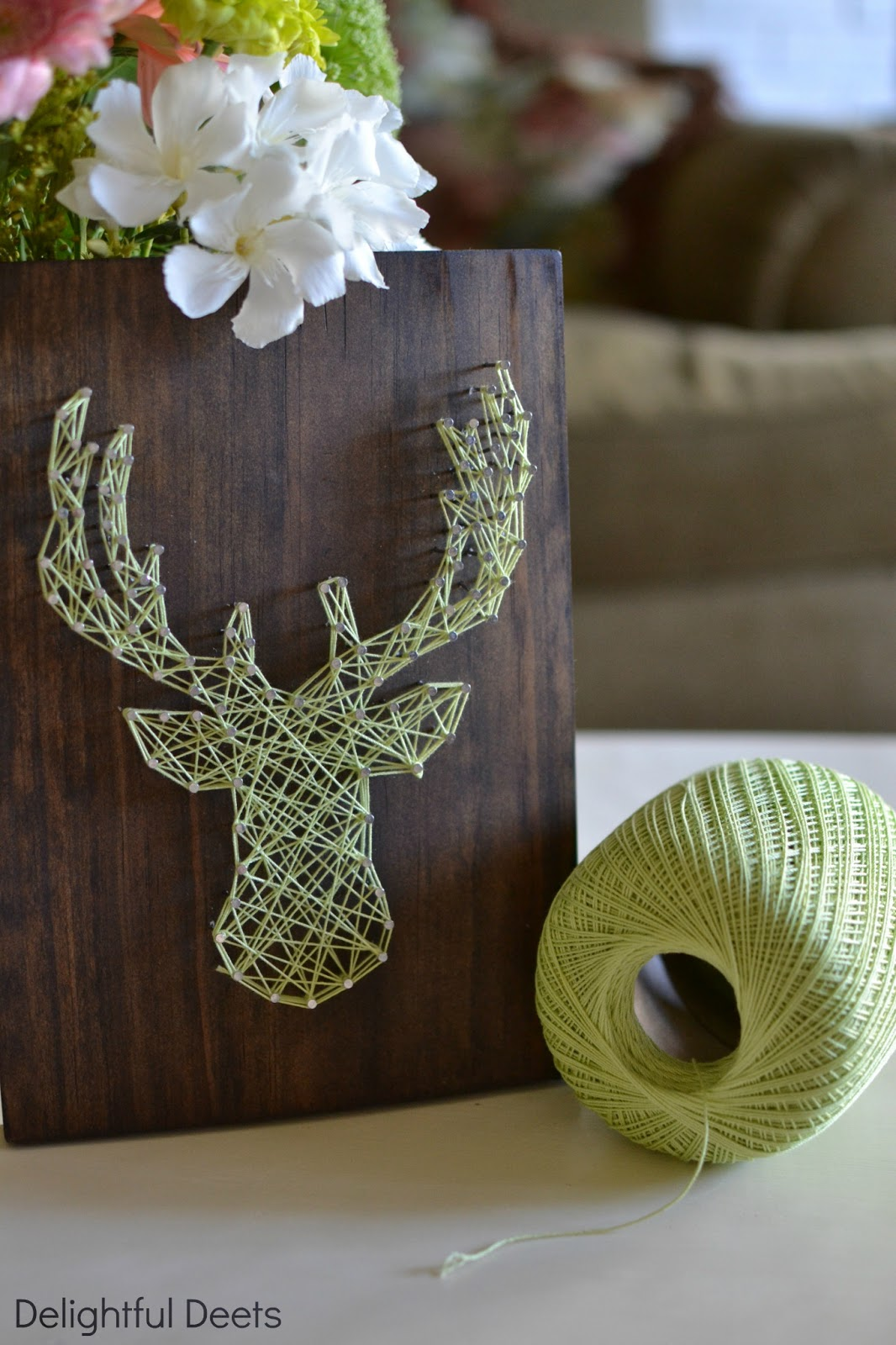 deer string art | 25+ Winter decor crafts