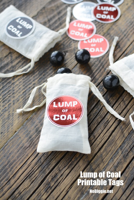lump of coal  Christmas printable | NoBiggie.net