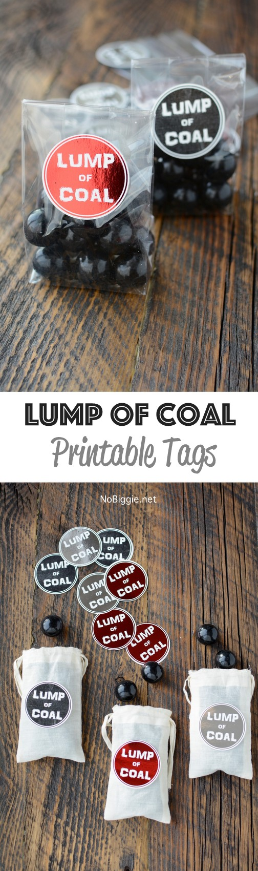 Lump of Coal Printable - a cute little gift to place in your kiddos stockings. #lumpofcoal #printables #christmasgifts #gaggifts #stockingstuffers