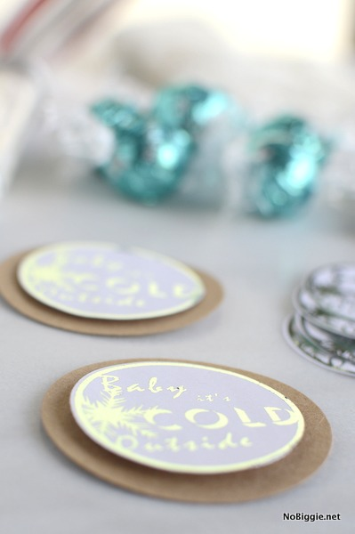 minc foil applicator on gift tags | NoBiggie.net