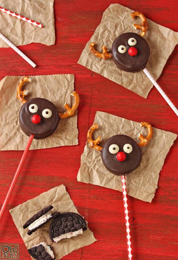 oreo reindeer pops | 25+ Cute Christmas Treats