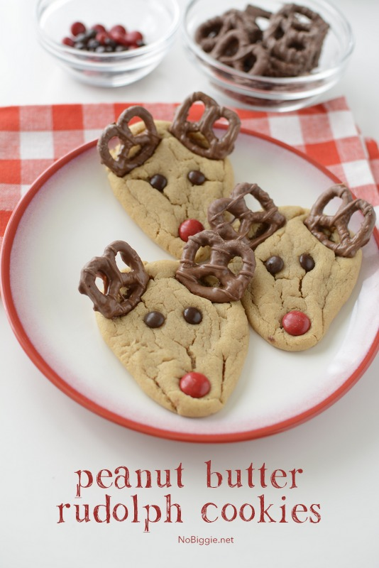 peanutbutter rudolph cookies | 25+ Cute Christmas Treats
