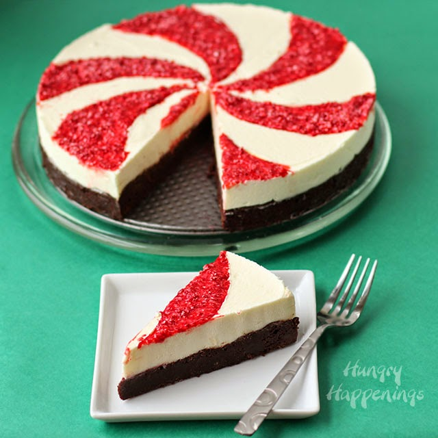 peppermint swirl mousse cake | 25+ Cute Christmas Treats