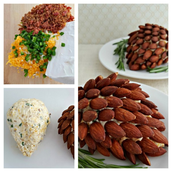 pinecone cheeseball | 25+ Holiday Party Appetizers