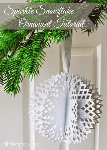 sparkle snowflake | 25+ Winter decor crafts