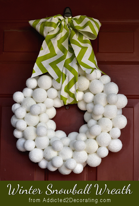 winter snowball wreath