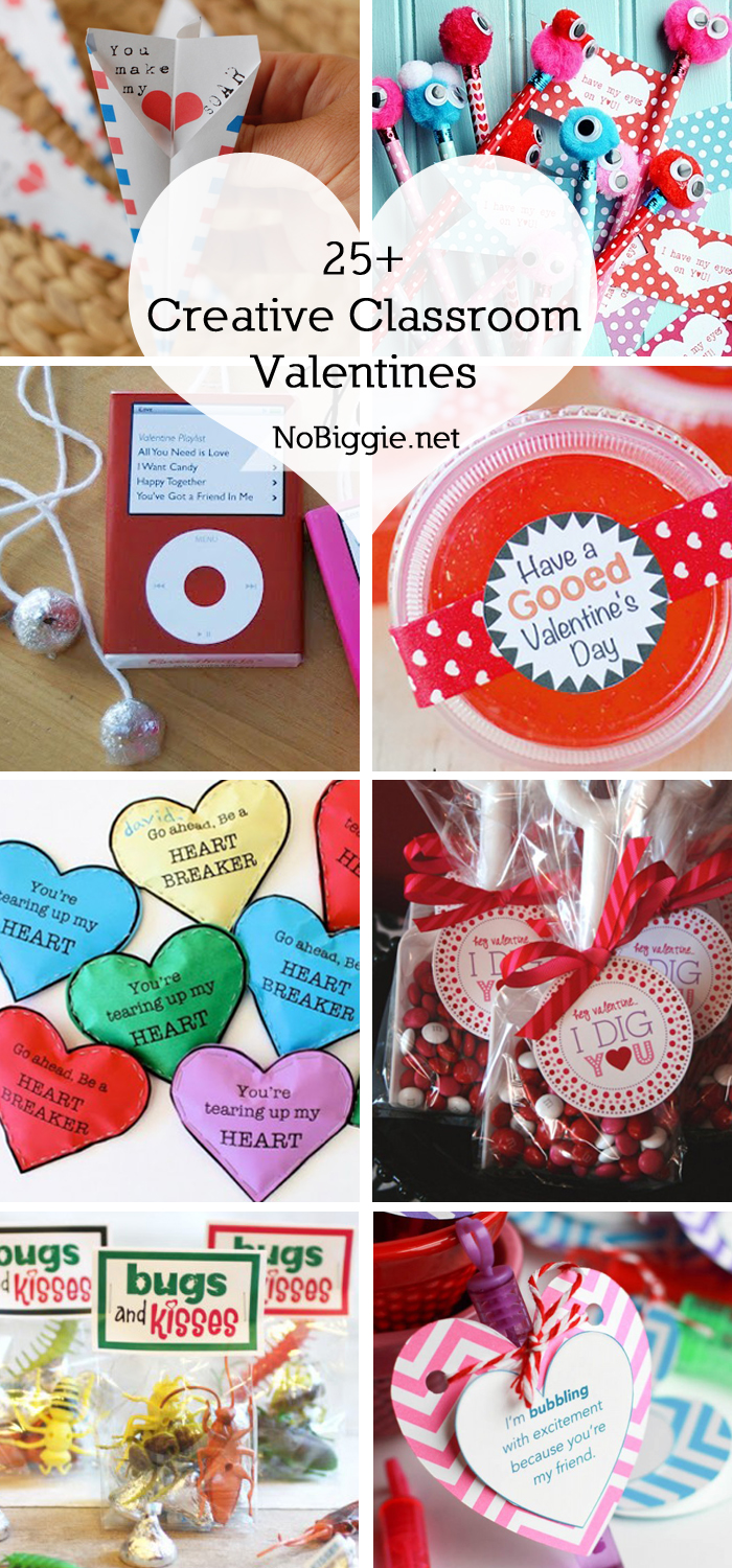 Creative Classroom Valentines - it's not to late to make a cute little valentine for your kids to pass out to friends, #valentinesday #classroomvalemtine #creativevalentines #valentineideas