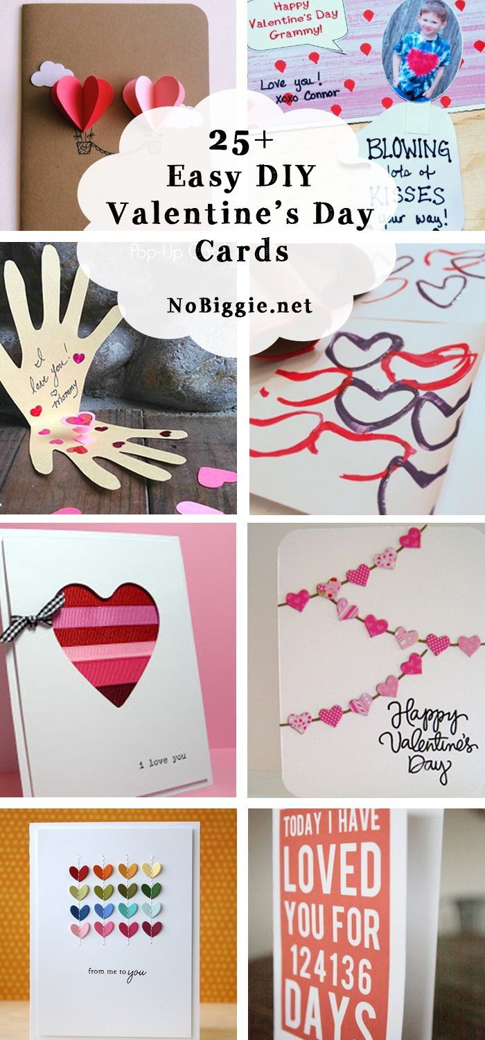 25 Easy Diy Valentine S Day Cards Nobiggie