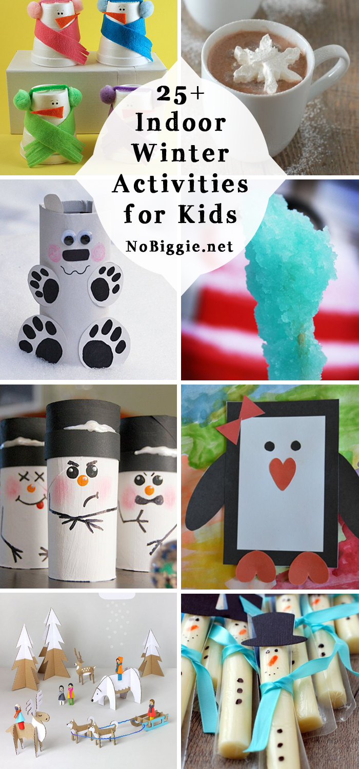 indoor Winter Activities for kids -  to help break up the indoor boredom and keep little hands creative. #indooractivities #boredombusters #kidsactivities #kidscrafts #activities