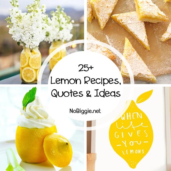 25+ lemon recipes and more | NoBiggie.net