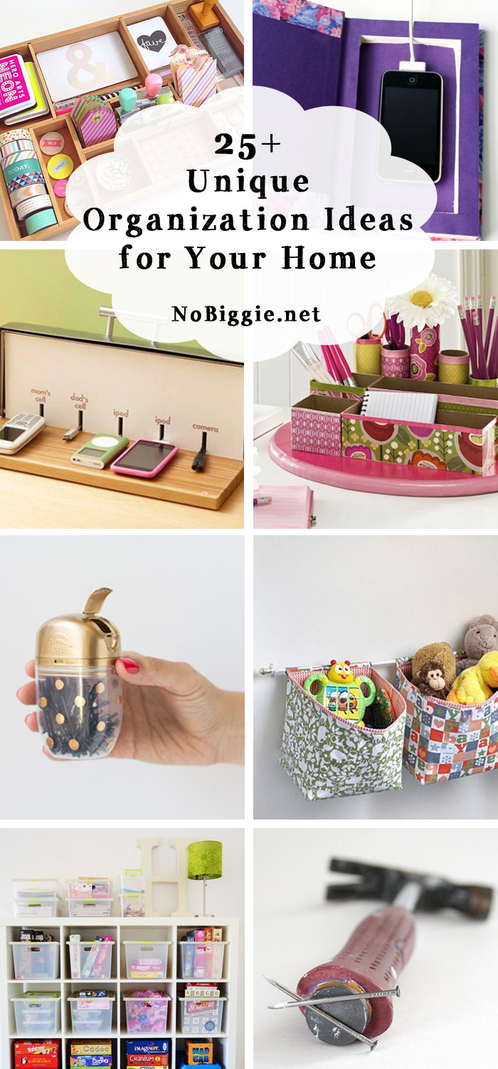 25+ unique ideas for home organization | NoBiggie.net