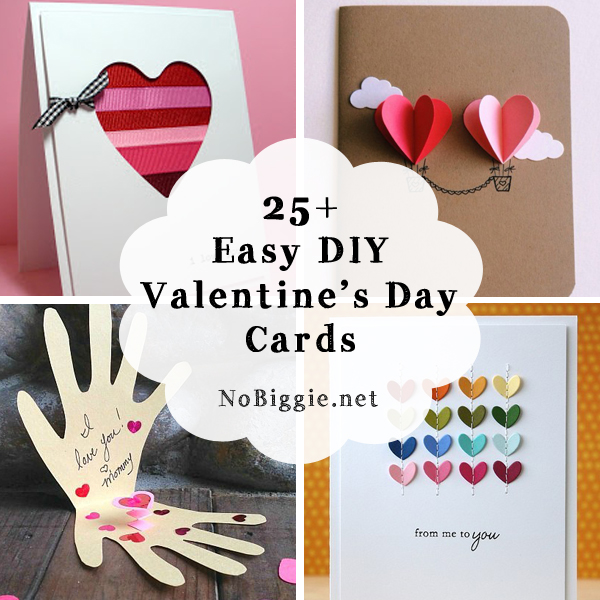 25 easy diy valentine 39 s day cards for Designs for valentine cards