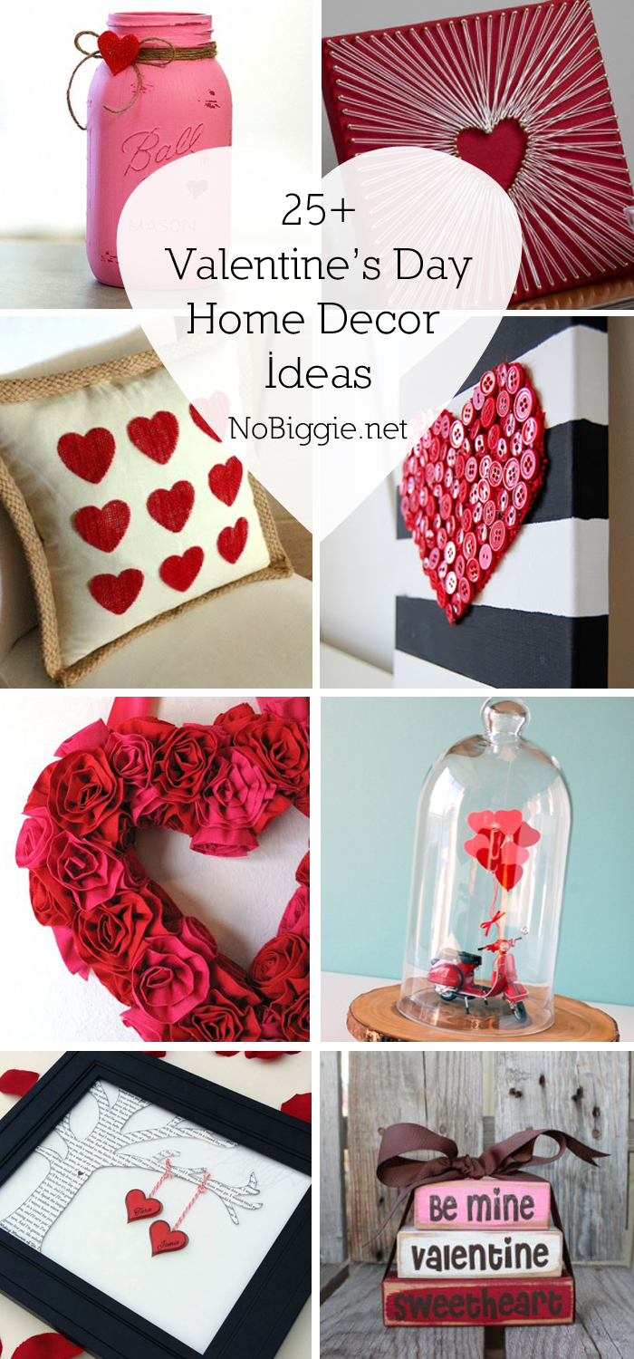 25 valentine 39 s day home decor ideas for Valentine decorations to make at home